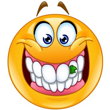 350x350 Food On Teeth Smiley, Teeth And Smileys