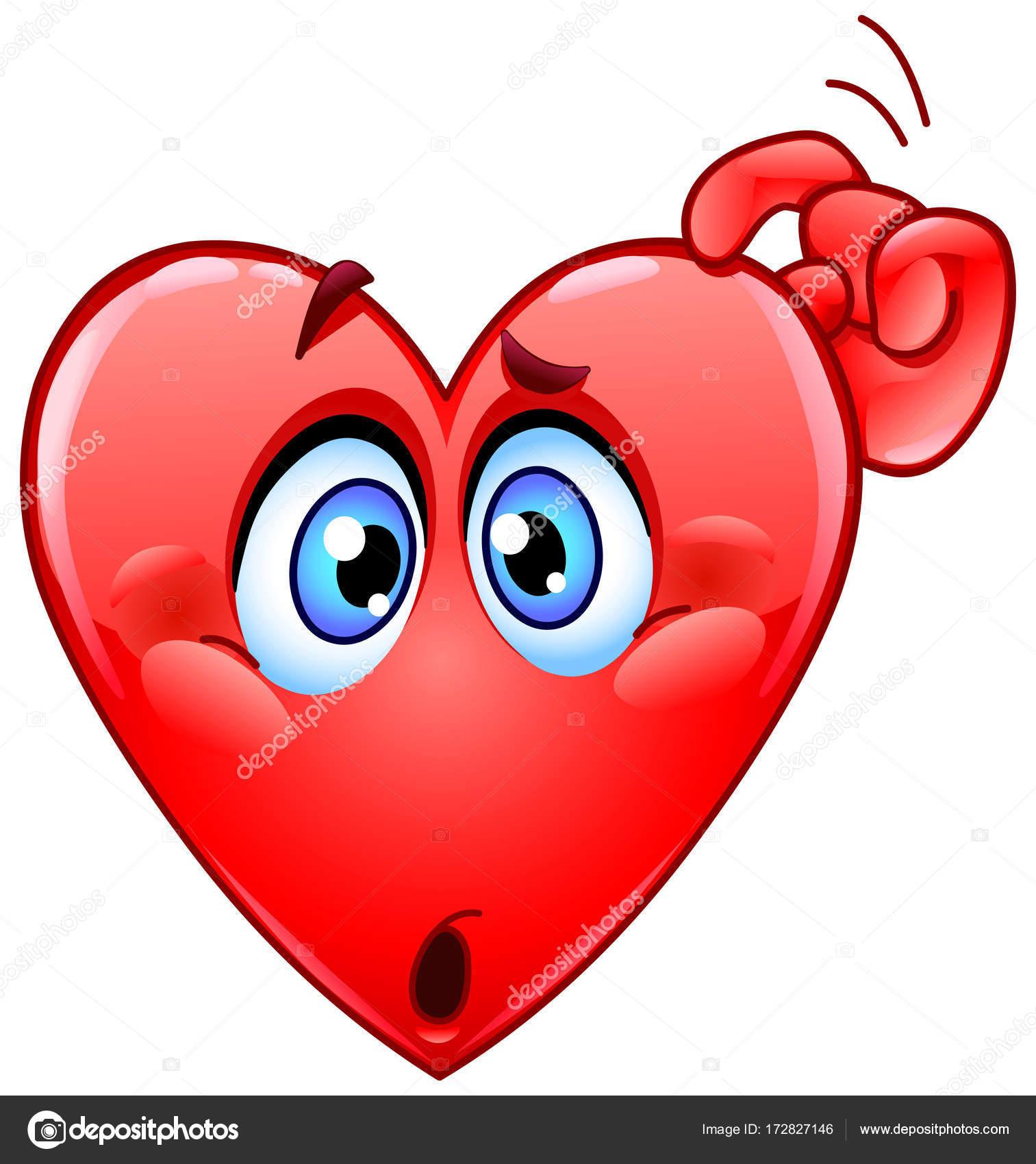1513x1700 Confused Heart Emoticon Stock Vector Yayayoyo