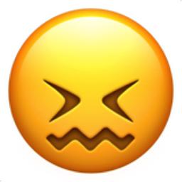 256x256 Confounded Face Emoji U 1f616