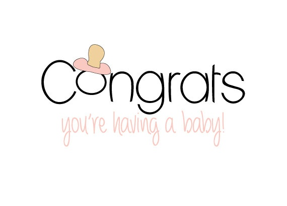 570x410 Congrats You'Re Having A Baby Cards Set Of 4 Congratulations