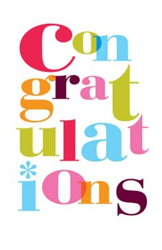 236x364 Congratulations Greetings Card On Behance Font A Licious