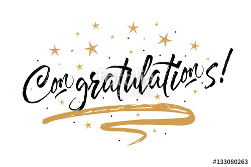500x334 Congratulations Card, Congrats. Beautiful Greeting Scratched