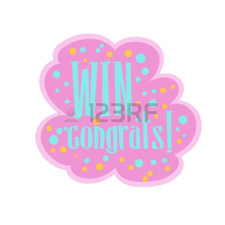 450x450 Win Congratulations Sticker Design Template For Video Game Winning