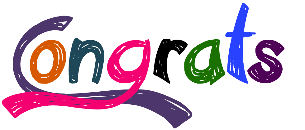 979x417 Congrats Colorful Text Picture