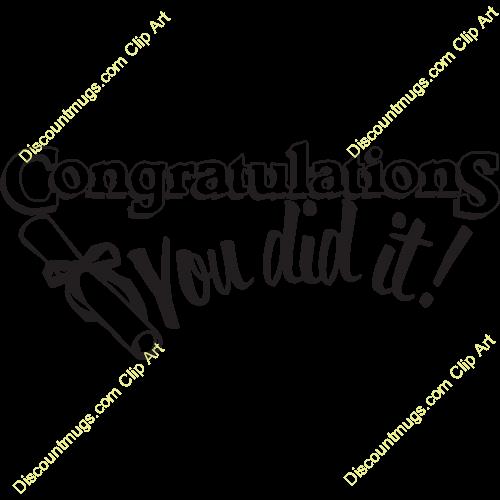 500x500 Congrats To You Clipart