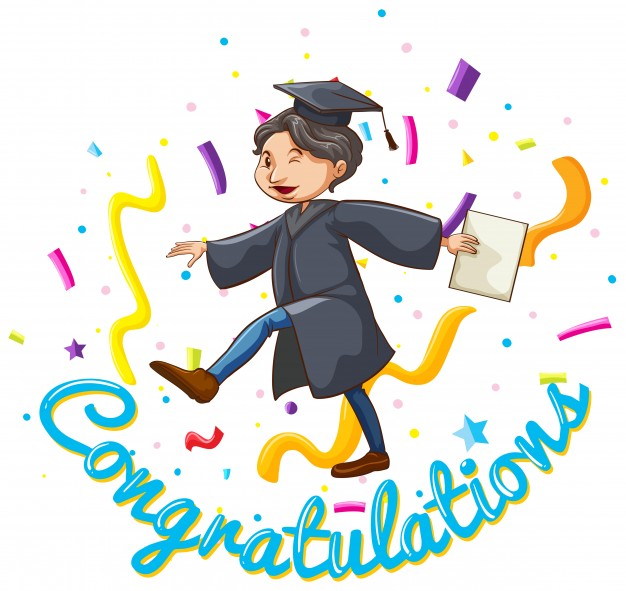 626x591 Congratulations Card Template With Man Holding Degree Vector