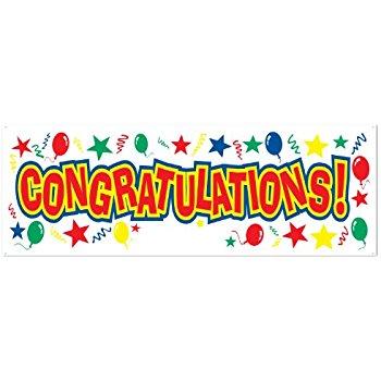 350x350 Congratulations Gold Foil Party Banner