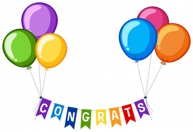 626x428 Background Design With Word Congrats And Colorful Balloons Vector