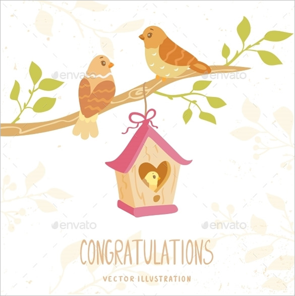 585x587 Congratulations Card Template