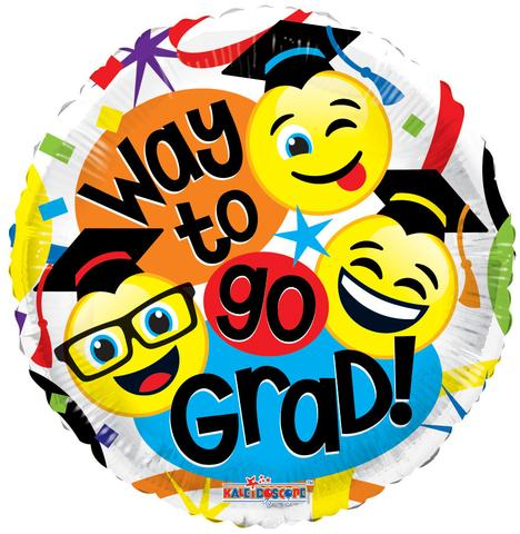 468x480 Congrats Grad Smiley Faces Happy Graduation Balloon Bouquet