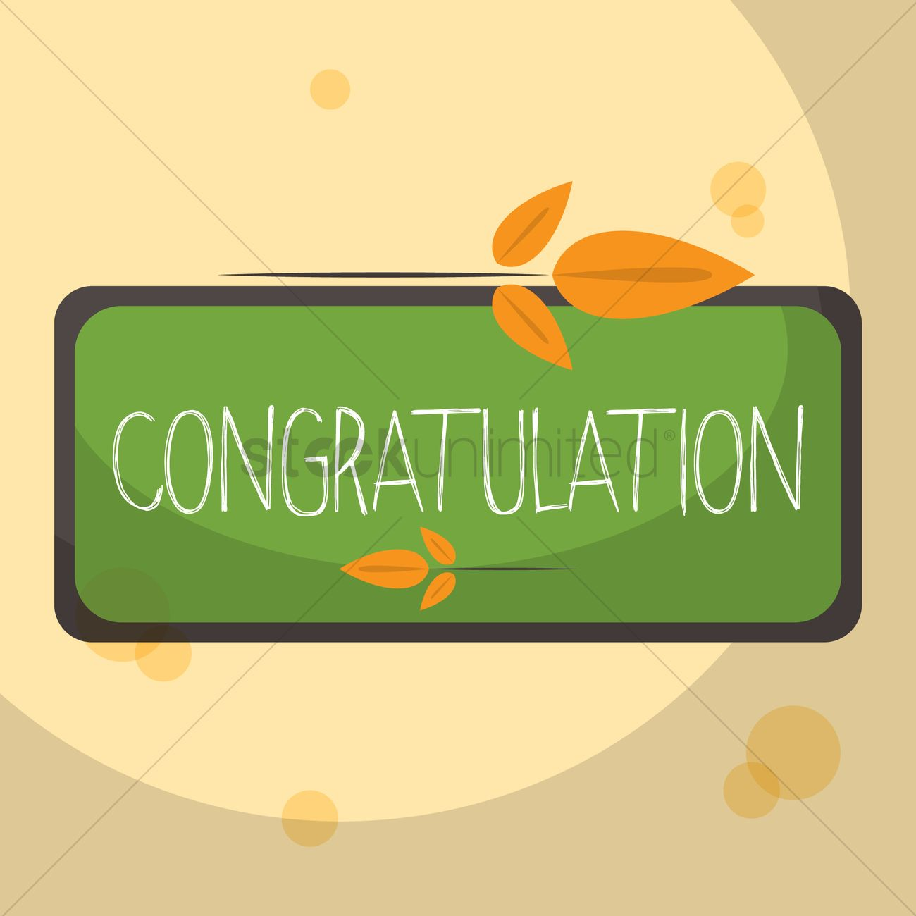 1300x1300 Congratulation Greeting Vector Image
