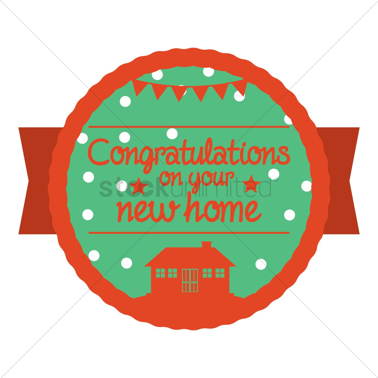 1300x1300 Congratulations On Your New Home Vector Image