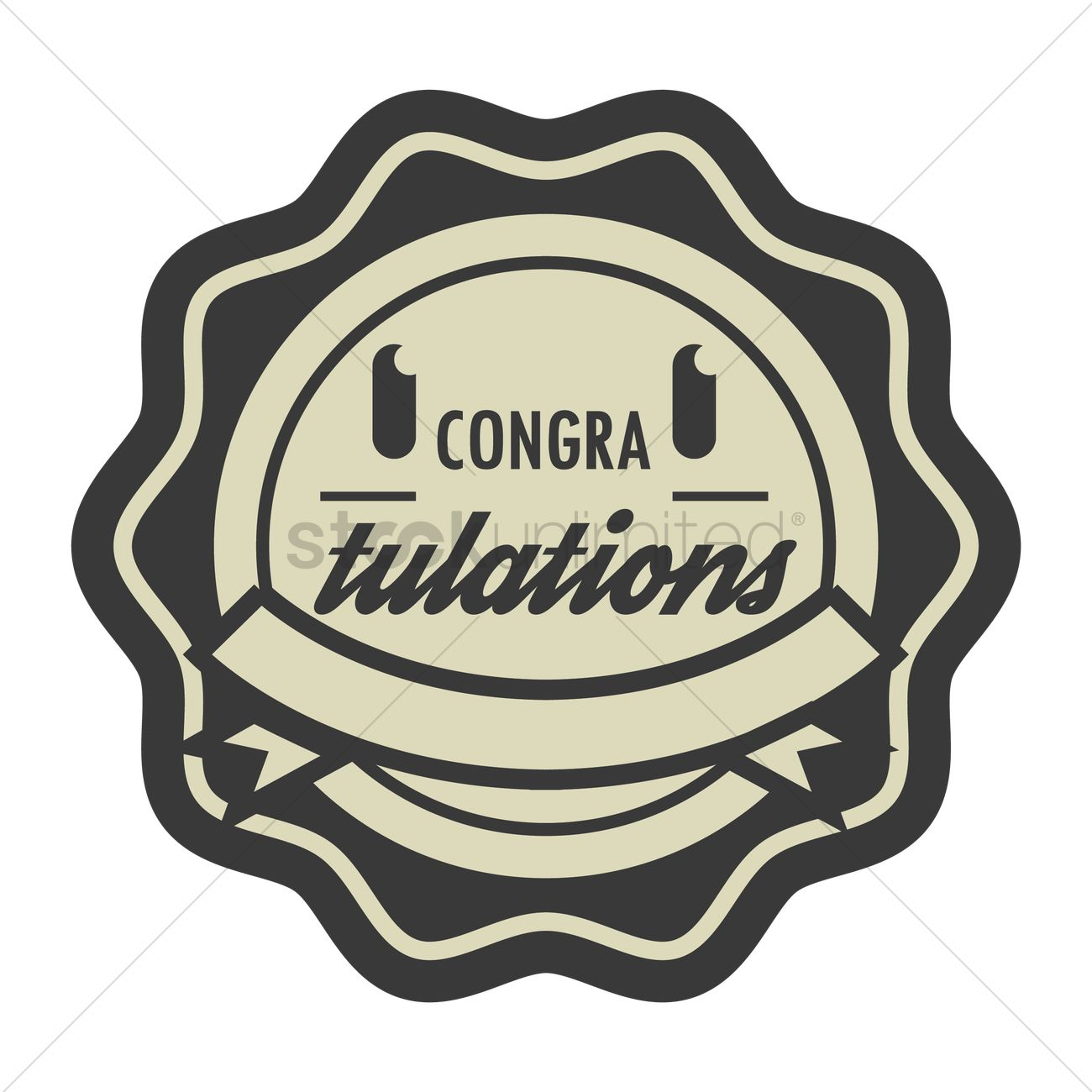 1300x1300 Congratulations Stamp Seal Vector Image