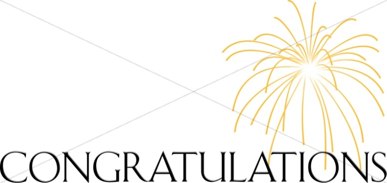 776x368 Congratulations Lettering With Gold Firework Congratulations