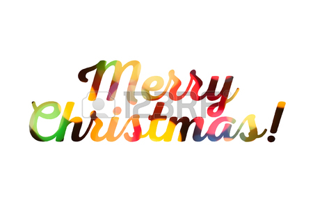 450x300 Festive Colorful Merry Christmas Congratulation On White
