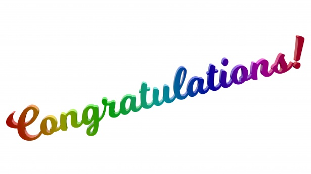 615x345 Congratulations Milkshake Text Free Stock Photo