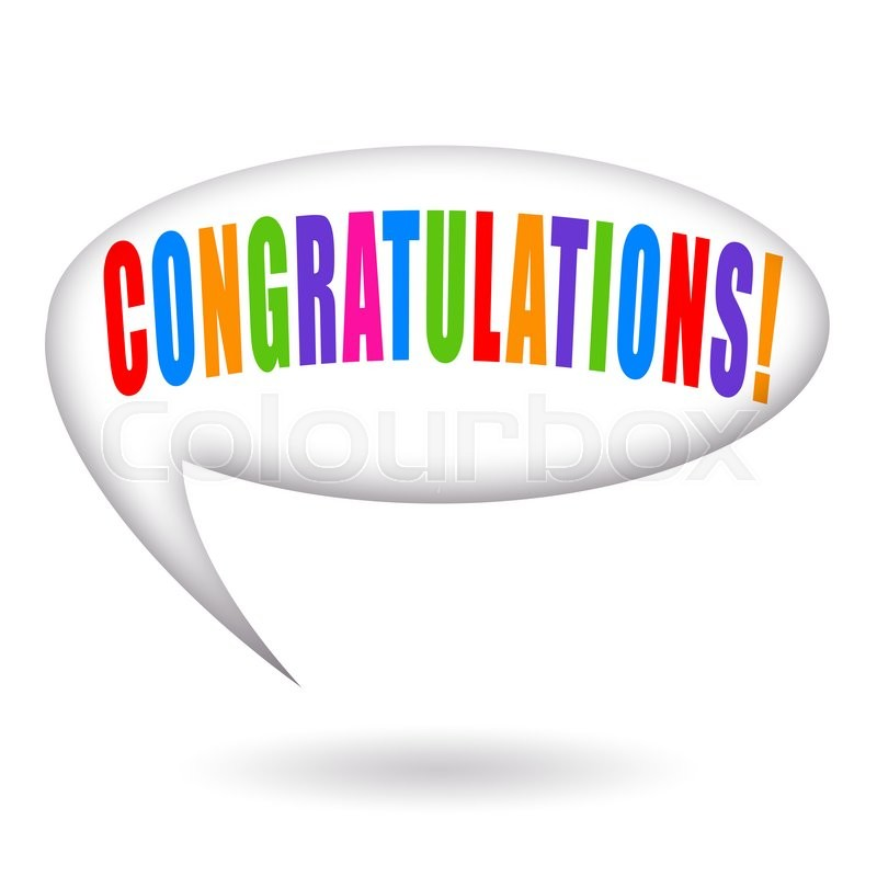 800x800 Congratulations Inscription Insode Speech Bubble Isolated On White