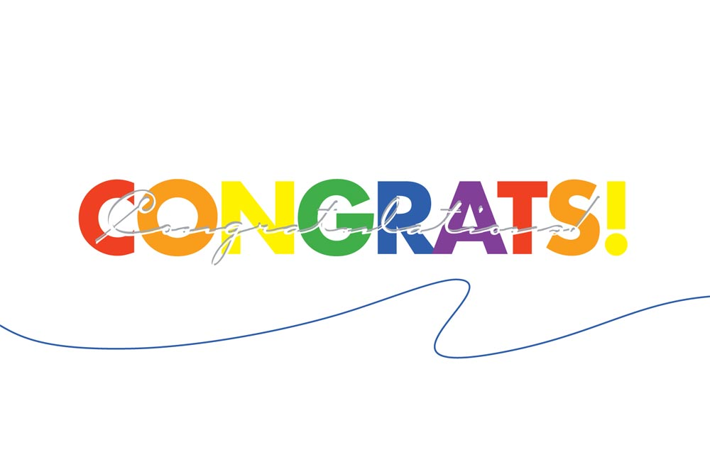 1000x665 Colorful Congratulations Postcard Achievement By Brookhollow
