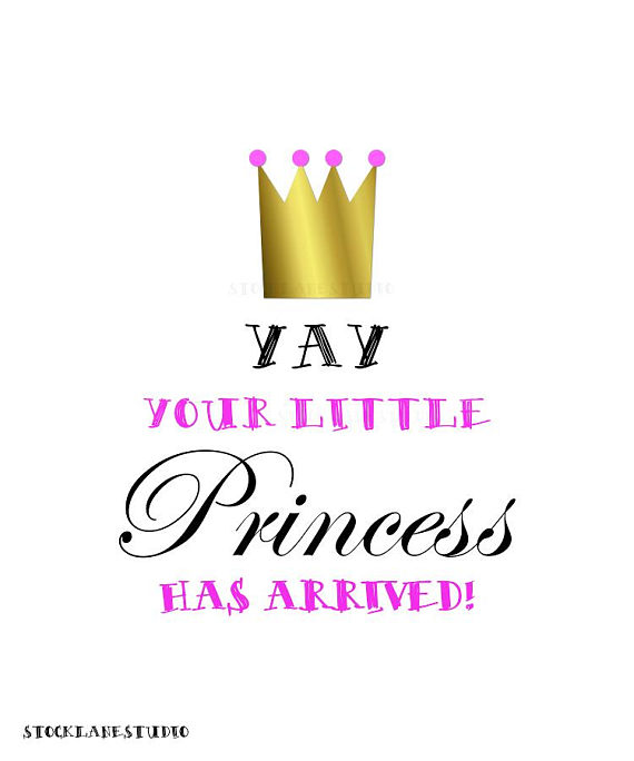 570x684 Printable Congratulations New Baby Girl Sign Little Princess