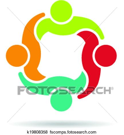 433x470 Clip Art Of Team 4 Congress Logo K19808358