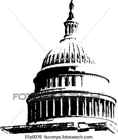 396x470 Clip Art Of Capitol Dome 01p0076