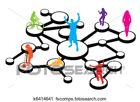 450x329 Clipart Of Social Media Connections Diagram K6414641