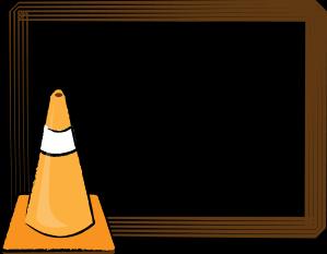 299x233 Cone Clipart Construction Border