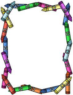 236x305 School Borders Crayon Border
