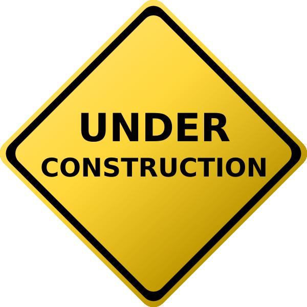 600x600 Under Construction Sign Clip Art