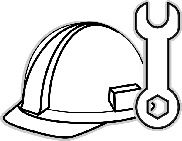 600x466 Construction Clipart Black And White Gallery For Hard Hat Clip Art
