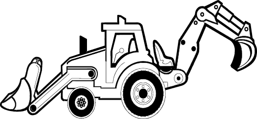 520x240 Image Of Backhoe Clipart