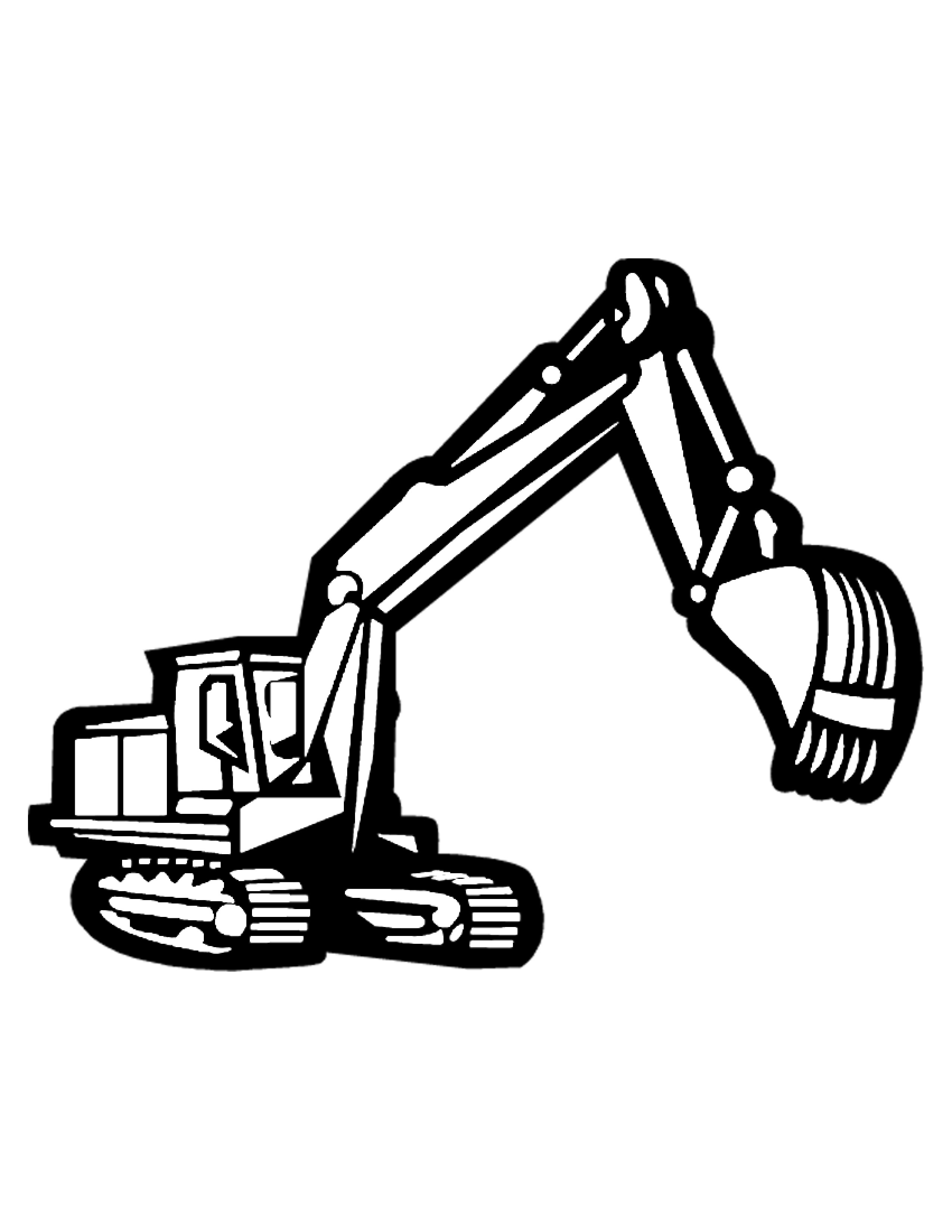2550x3300 Mechanical Crane Clip Art Black And White Cliparts