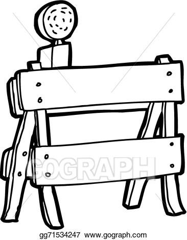 366x470 Barrier Clipart Black And White