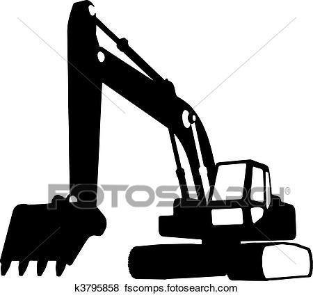 450x424 Clip Art Of Construction Vehicles (Vector) K3795858