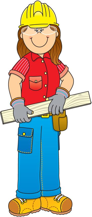 367x865 Construction Worker Clipart