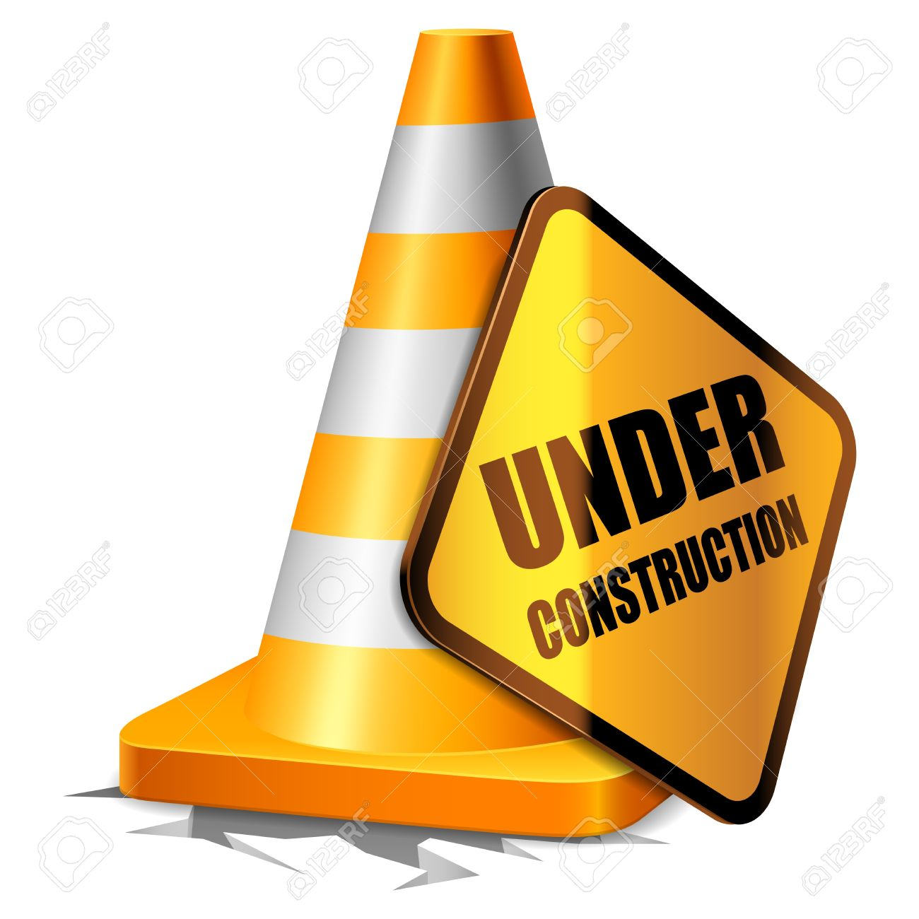 1300x1300 Cone Clipart Construction Sign