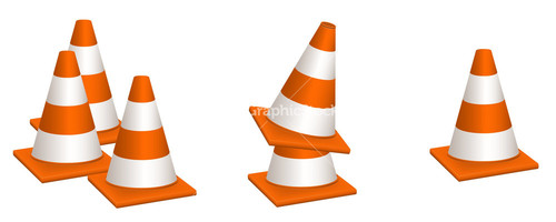 500x200 Cone Clipart Safety Cone