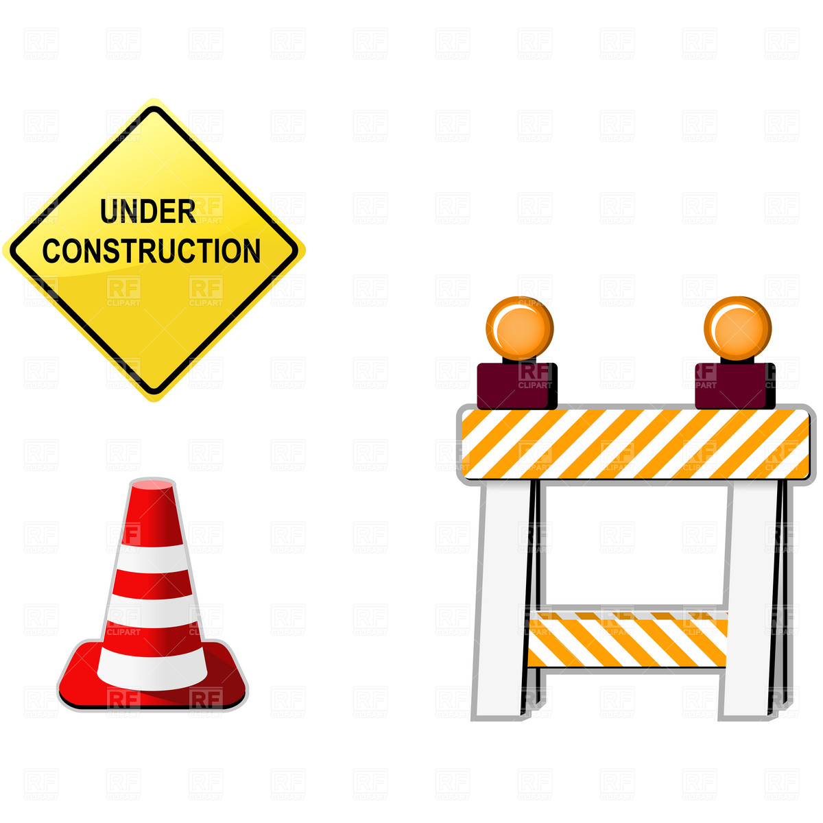 1200x1200 Under Construction Symbols Royalty Free Vector Clip Art Image