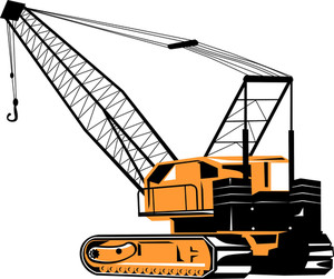 300x251 Construction Crane Hook Lifting Blank Board Royalty Free Stock