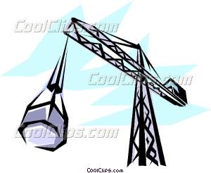 300x246 Construction Crane Vector Clip Art