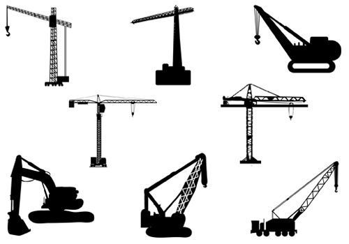 500x350 Crane Silhouette Clip Art