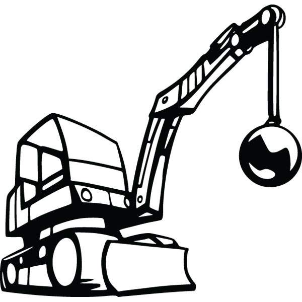 600x600 Crane Wrecking Ball Construction Equipment Clip Art Gallery