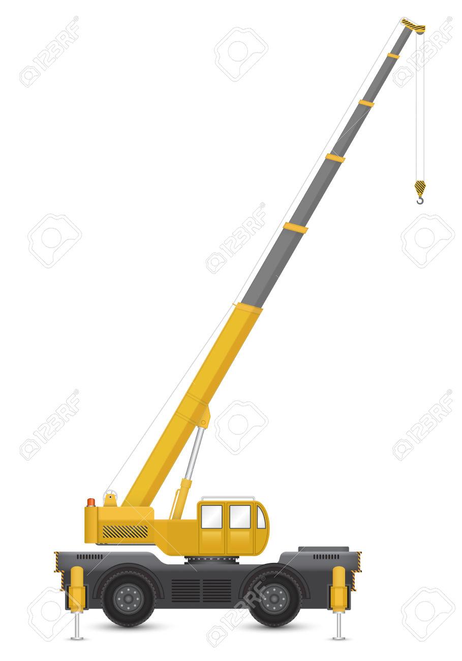 909x1300 Crane Clipart Mobile Crane