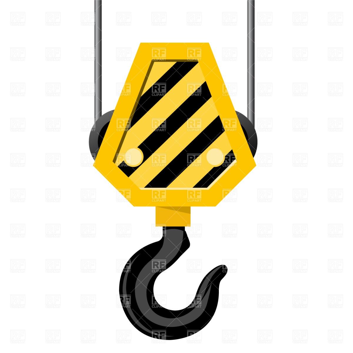 1200x1200 Crane Hook Royalty Free Vector Clip Art Image