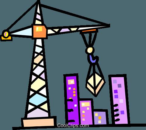 480x427 Construction Crane Royalty Free Vector Clip Art Illustration