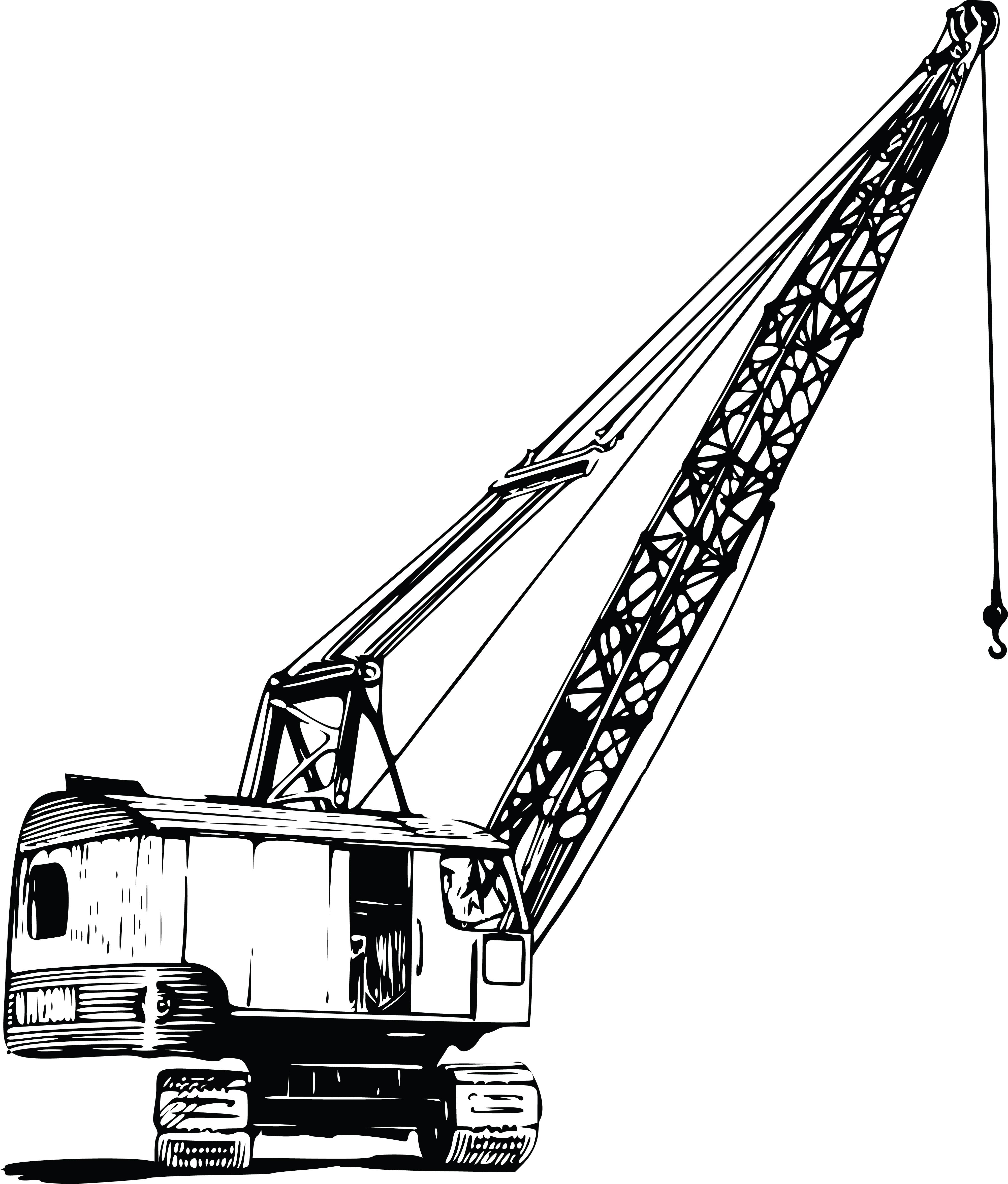 4000x4700 Clipart Of A Construction Crane