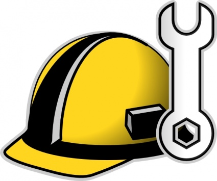 425x355 Construction Hat Clip Art