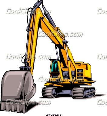 353x383 Construction Excavating Business Card Logos Heavy Equipment