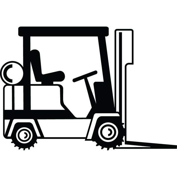 600x600 Forklift Construction Equipment Clip Art For Custom Gifts