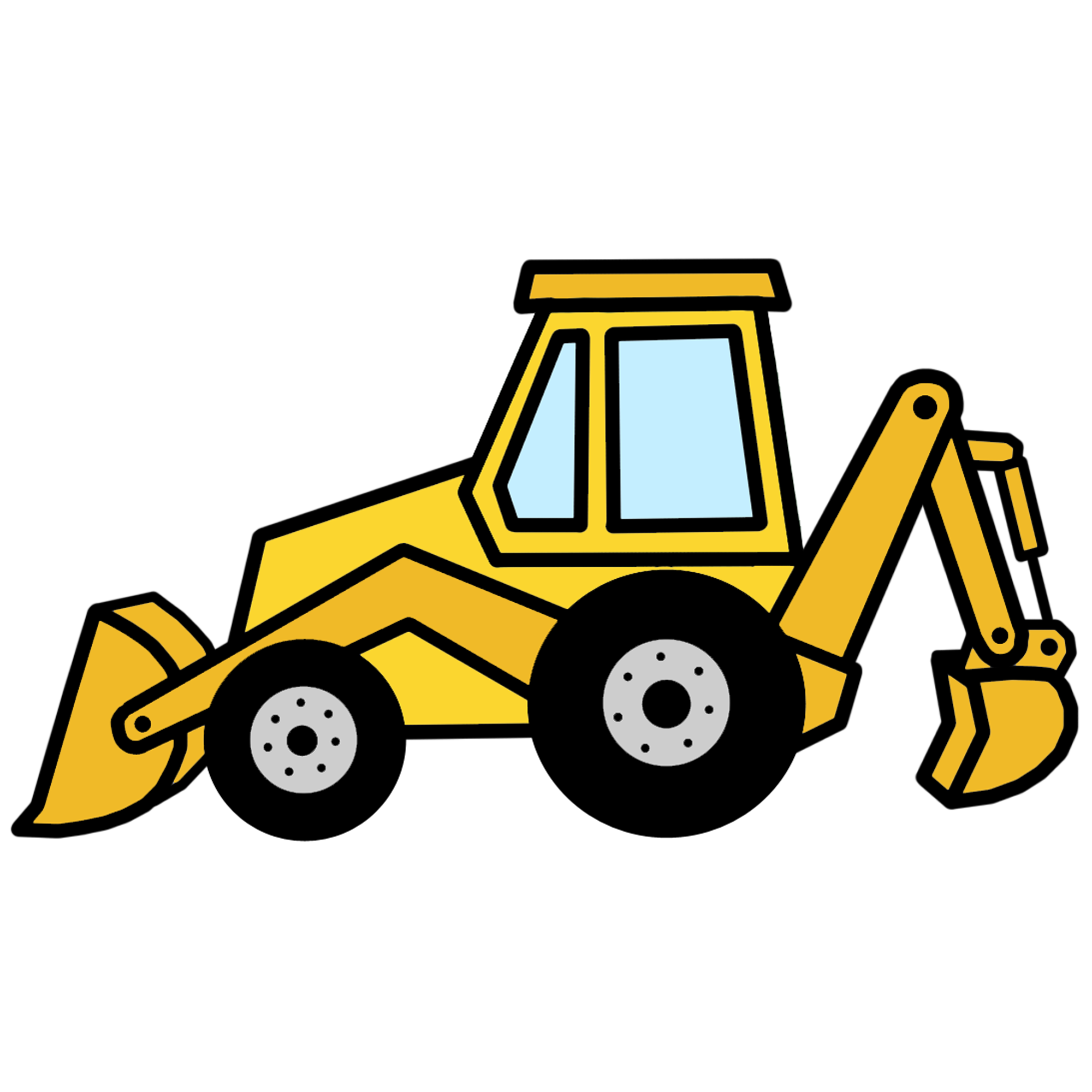 2000x2000 Machine Clipart Backhoe